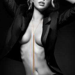 Magnifique - Collier / Fouet en chainettes métalliques