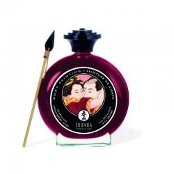 Peinture de corps embrassable - vin pétillant fraise