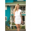 "Robe Cocktail ""Dress White 4917"""