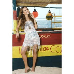 Beach dress white 7794
