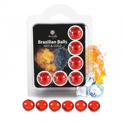 6 Brazilian Balls Cold Hot effect  3629-1