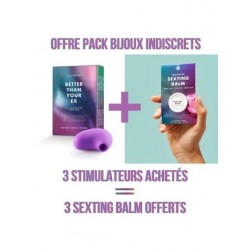 "Pack 3 Stimulateurs Clitoridiens + 3 baumes ""Clitherapy"""